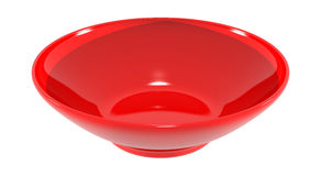 Dish bowl red plastic image. This raster is traditional dish bowl with red plastic, element object with white color background Royalty Free Stock Photography