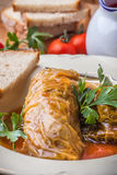 Dish of cabbage stuffed with meat. Royalty Free Stock Photography