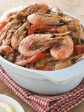 Dish of Cajun Shrimp Royalty Free Stock Photo