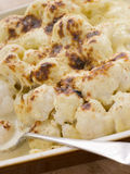 Dish of Cauliflower Cheese Royalty Free Stock Images
