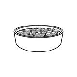 Dish with cereal icon. Illustration design Royalty Free Stock Image