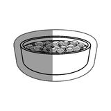 Dish with cereal icon. Illustration design Royalty Free Stock Photos