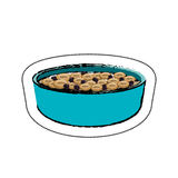 Dish with cereal icon. Illustration design Stock Image