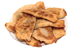 Dish chebureks Greek Stock Images