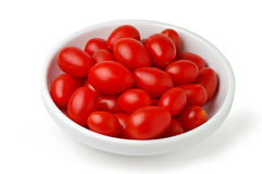 Dish with cherry tomatoes Stock Image
