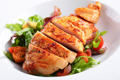 A dish of chicken breast Royalty Free Stock Photography