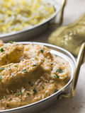 Dish of Chicken Pasanda with Pilau. Side dish Stock Image