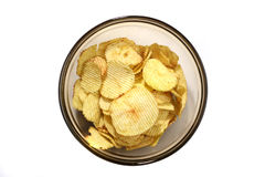 Dish of chip Royalty Free Stock Image