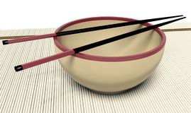 Dish and chopstick Royalty Free Stock Photo