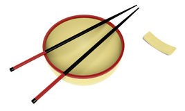 Dish and chopstick Stock Image