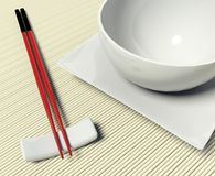 Dish and chopstick Stock Images