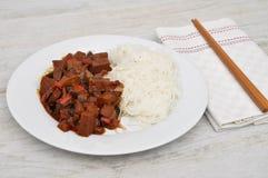 Dish with chopsticks Royalty Free Stock Photos