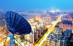 Dish and city views Stock Image