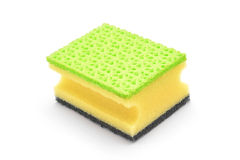Dish cleaning sponge Stock Photo