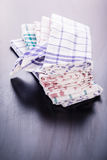 Dish cloth on the table Royalty Free Stock Photos