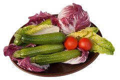 Dish of colorful vegetables Royalty Free Stock Photo