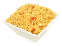 Dish Of Cooked Couscous Royalty Free Stock Image