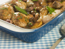 Dish of 'Coq au Vin' Royalty Free Stock Images