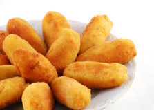 Dish of croquettes Stock Image