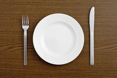 Dish and cutlery Stock Photography