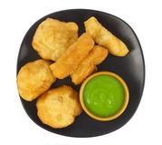 Dish of deep-fried doughstick on white background Stock Image