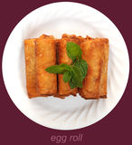 Dish of deep fried egg rolls Stock Image