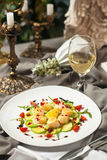 The dish is a delicacy of the scallops. Stock Photos