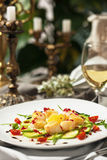 The dish is a delicacy of the scallops. Royalty Free Stock Photos