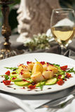 The dish is a delicacy of the scallops. Royalty Free Stock Images
