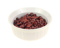 Dish Dried Cranberries Stock Image