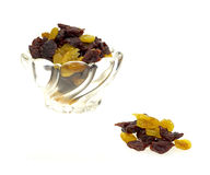 Dish of dried sweet cherries Royalty Free Stock Photos