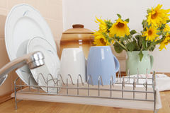 Dish Drying Rack Stock Photo