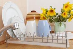 Dish Drying Rack Stock Photo