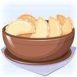 Dish with dumplings Stock Photo