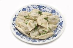 Dish with dumplings Royalty Free Stock Images