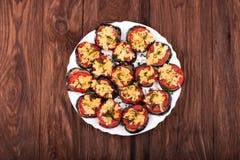 Dish of eggplant Stock Photos