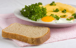 Dish from eggs Stock Image