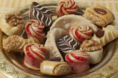 Dish with festive moroccan cookies Stock Photo