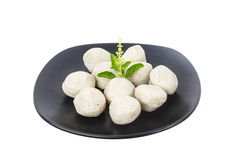 Dish of fish ball as appetizer  isolated on white Stock Photos
