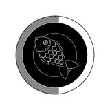 Dish with fish sea food menu Royalty Free Stock Photography