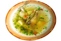 Dish with fish soup Royalty Free Stock Photography