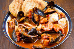 A dish with fish soup Royalty Free Stock Photo