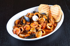 A dish with fish soup Stock Photography