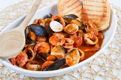 A dish with fish soup Royalty Free Stock Photos