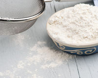 Dish Of Flour Royalty Free Stock Photo