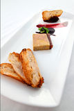 Dish of fois gras Stock Photo