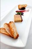 Dish of fois gras Stock Photo