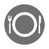 Dish with fork and knife. Vector illustration design Stock Photos