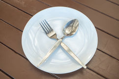 Dish fork and spoon. Silverware Stock Image