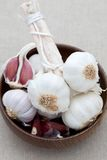 Dish of fresh garlic Stock Image